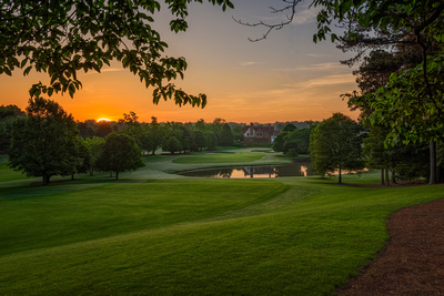 East Lake Golf Club's beautiful 9th hole at dawn