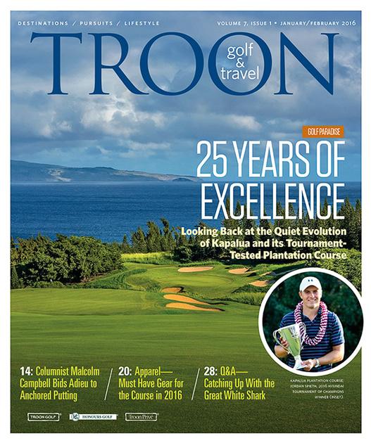 Troon Golf & Travel Magazine, Digital Edition - Cover, January, 2016