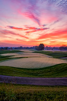 University of Louisville Golf Club, Simpsonville, KY,  9th Hole at dawn