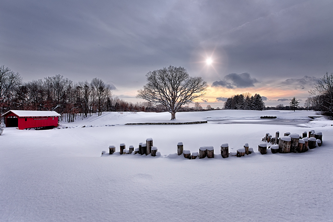 Crooked Stick Golf Club, 6th Hole covered in snow