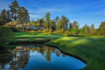 18th Hole and Clubhouse, Wade Hampton Golf Club, Cashiers, NC