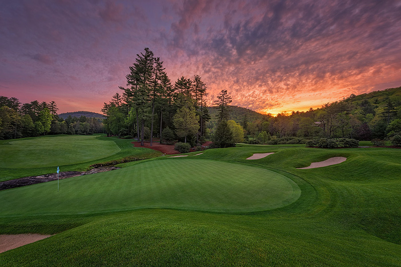 Wade Hampton Golf Club, Cashiers, NC - Sunrise on the 9th
